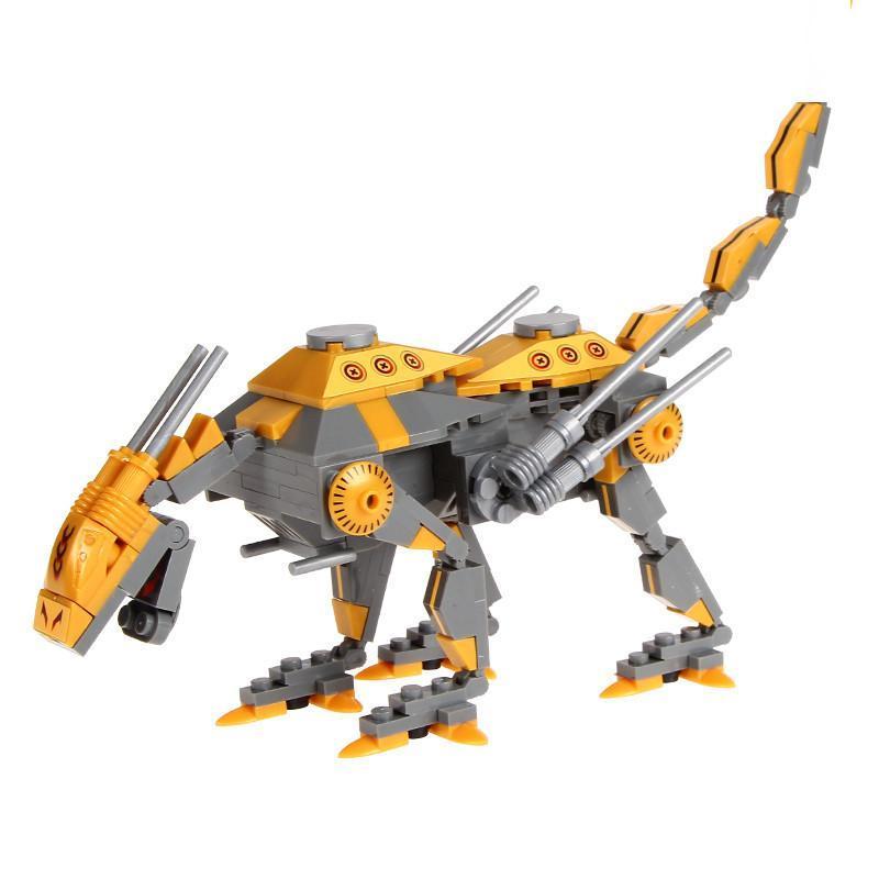 乐高式拼装积木机甲英雄系列 机甲变形 机械兽拼插积木 儿童益智玩具
