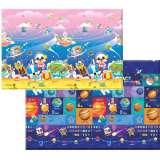韩国康贝儿进口环保儿童爬行垫 婴儿爬爬垫 游戏毯兔兔太空之旅S号 11mm