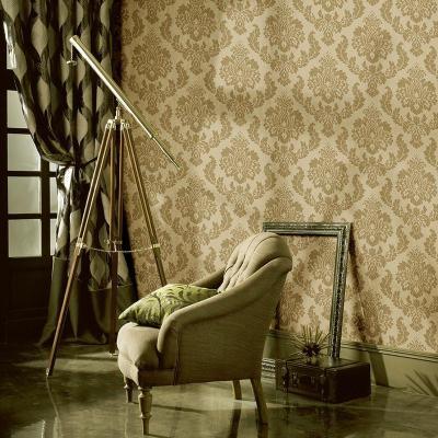 米素欧式复古服装店墙纸 大马士革客厅电视背景立体壁纸 沃兰诺