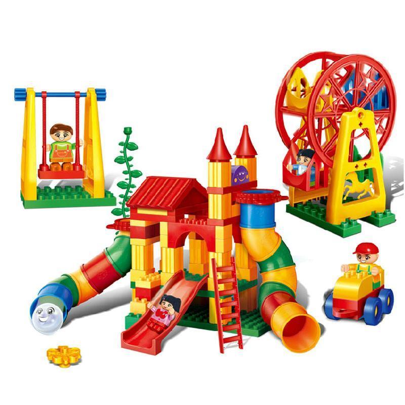 儿童礼物幼儿园精品邦宝创意认知游乐场拼插益智积木