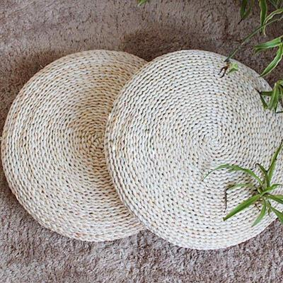 天然玉米皮纯手工编织坐垫 蒲团瑜伽垫 飘窗坐垫 大坐垫 礼佛垫 45cm