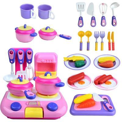 锦信玩具过家家视频儿童38针刀扮家家煮饭做厨房件套v玩具图片