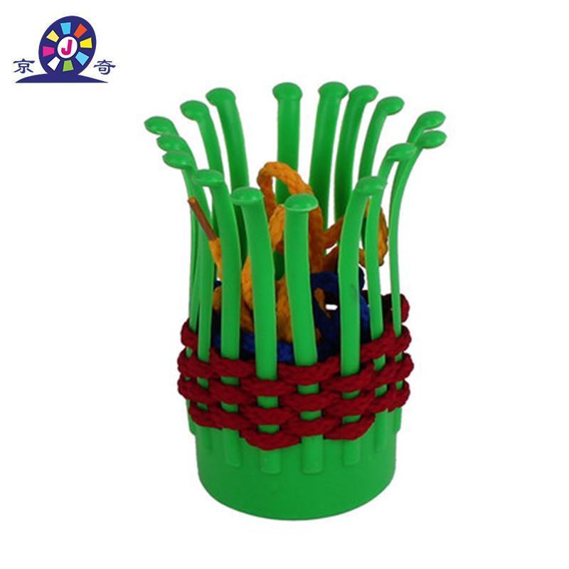 京奇花篮积木 益智编织塑料玩具 幼儿园创意拼搭益智塑料桌面积木 买