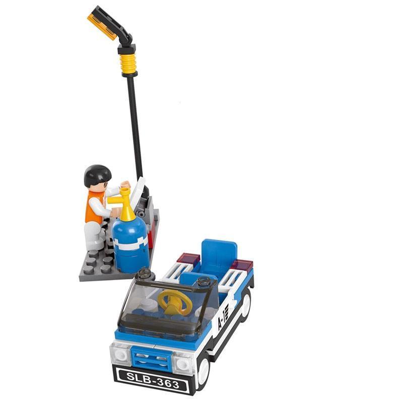 儿童玩具积木 家庭专用直升飞机 259片小颗粒拼插积木 乐高式
