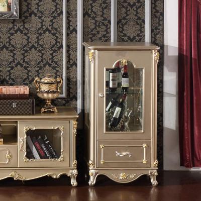 法丽莎家具y1欧式酒柜奢华单双门酒柜客厅组合实木酒