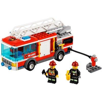 lego乐高大型消防车l60002儿童益智拼装积木玩具城
