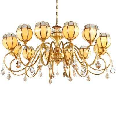 全铜水晶吊灯