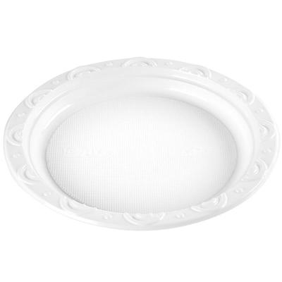 9寸一次性塑料圆盘子 水果盘快餐盘碟子餐具 蛋糕生鲜托盘 500个