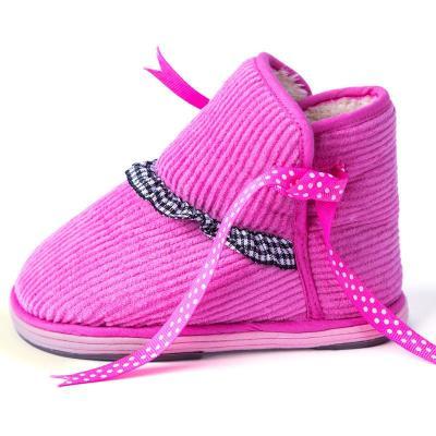 0-3岁宝宝学步鞋冬季棉鞋婴幼儿童手工布鞋 女