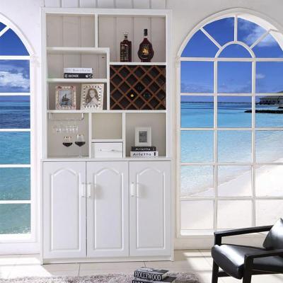 客厅柜餐厅高大酒柜 靠墙现代简约白色家具家用家庭时尚装饰柜门厅