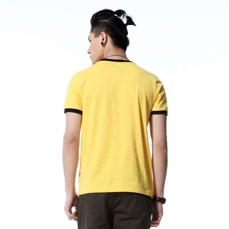 唐狮男装圆领t恤91121102200330104(浅黄m)