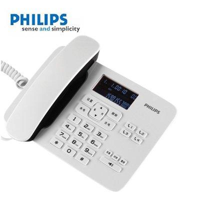飞利浦(PHILIPS) CORD492 家用/办公话机/有绳话机/来电显示/来电报号/固定电话座机 (白色)