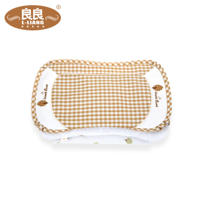 良良 LLA01-1C 婴幼儿护型保健枕宝宝枕头防偏头防多汗(0-3岁)米咖 41.5*24.5cm