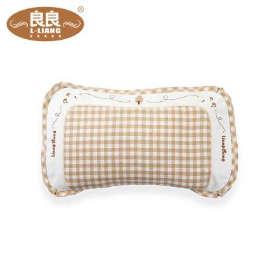 良良 LLA02-1C 嬰幼兒護型保健珍珠枕防偏頭防多汗(0-3歲加長)米咖 45*25.5cm