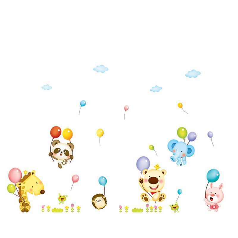 可移除墙贴纸卡通可爱猴子爬树贴画儿童房幼儿园ay7247