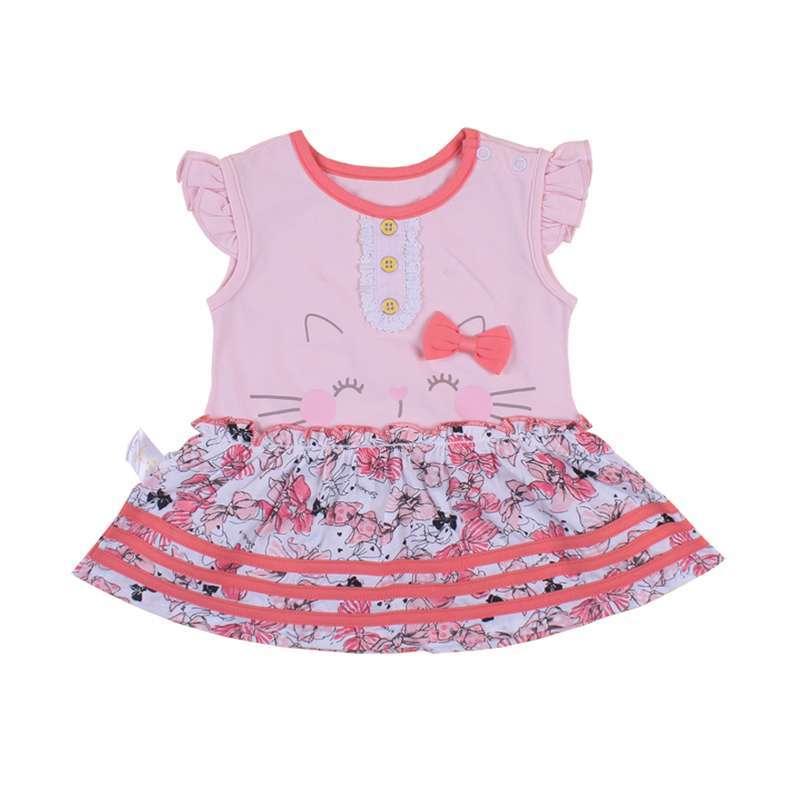 婴倍爱 夏季新款女宝宝短袖连衣裙 可爱女童裙子 c386