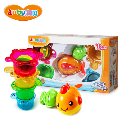 澳贝 AUBY 沐浴系列 海洋动物沐浴套装 塑料戏水玩具 6-12个月 463505DS