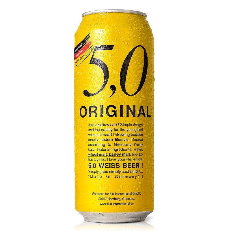 5.0自然浑浊型小麦啤酒500ml*6