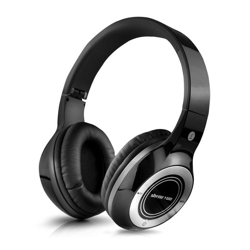 韵 TH320头戴式无线蓝牙耳机 耳麦立体声手机电脑游戏 插卡入耳潮-