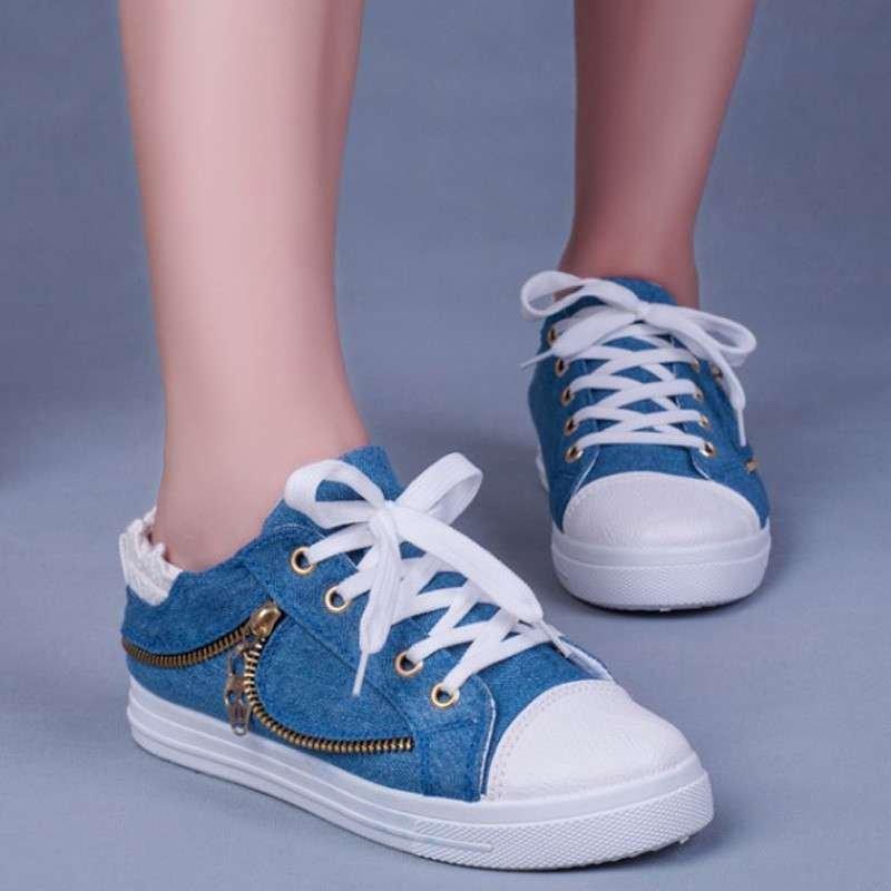 柯莉特新款2015春秋季中学生帆布鞋单鞋拉链装饰蕾丝边乖乖女鞋跑步鞋