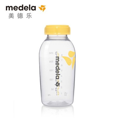 【苏宁红孩子】瑞士美德乐/Medela 单个盒装250ml奶瓶 PP储奶瓶 母乳保鲜