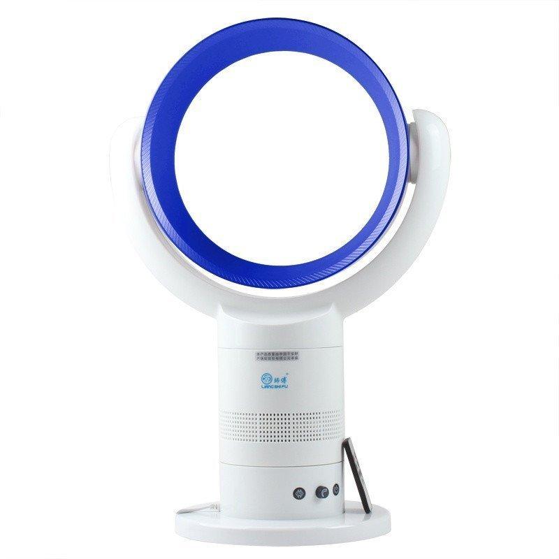 凉师傅无叶风扇台式 遥控定时 电风扇 10寸圆形LSF-018-3A白蓝