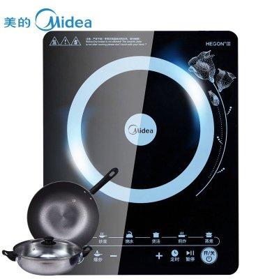 美的(Midea)WT2103A智能触摸式聚能复式大线圈电磁炉 (赠汤锅+炒锅)