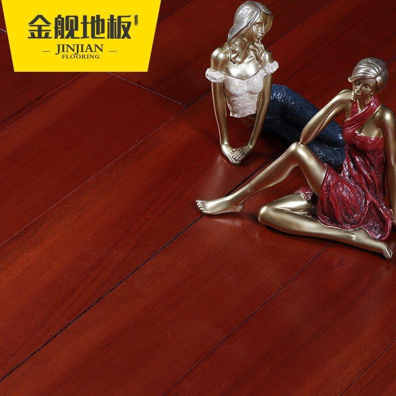 金舰 纯全实木地板番龙眼地板18mm 厂家直销木地板 环保健康棕红色