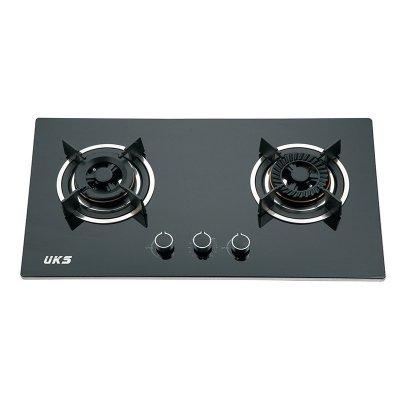 德国UKS厨卫电器嵌入式钢化玻璃面板智能定时燃气灶具JZT-S041