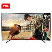 TCL L55H8800A-CUDS 55英寸 4K曲面高色域十四核安卓智能LED电视(黑色)