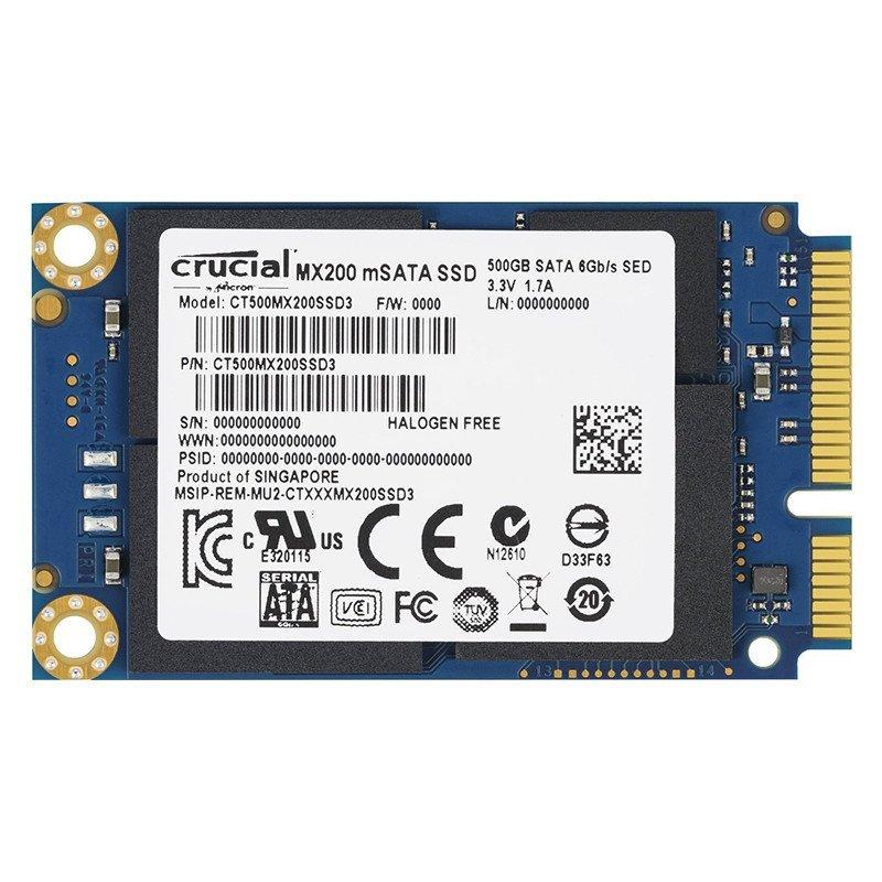 英睿达(Crucial)MX200系列500G SSD固态硬盘MSATA(CT500MX200SSD3)
