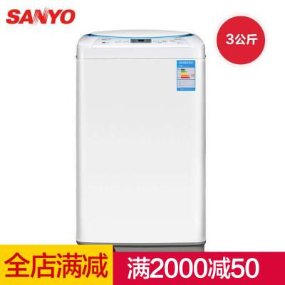 三洋(sanyo)xqb30-mini2 3公斤 mini全自动波轮 洗衣机(月牙白)