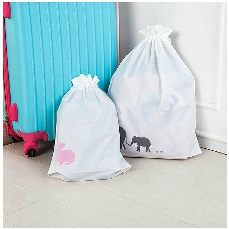 可爱小动物双层加厚束口袋幸运袋收纳防水袋旅行整理袋套装