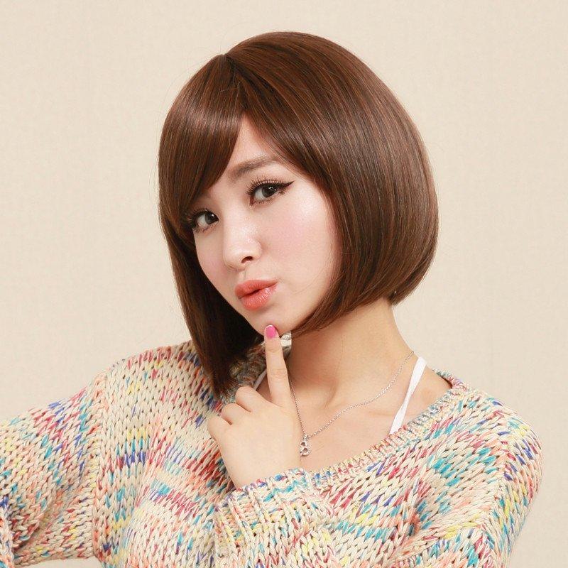 小苏妞假发 韩国甜美短直发bobo头 蓬松沙宣学生短发