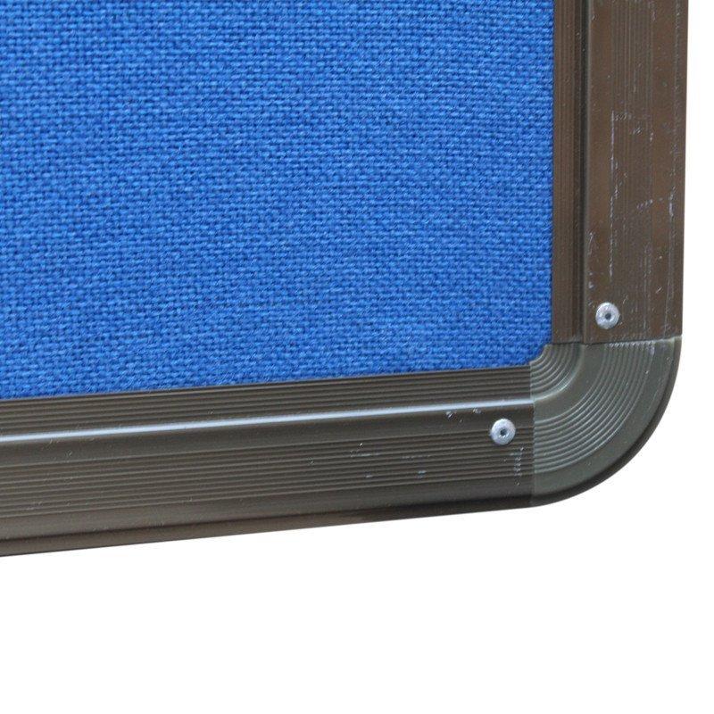 拓兴100cm*150cm 蓝布古铜铝合金边框包布软木板 图钉