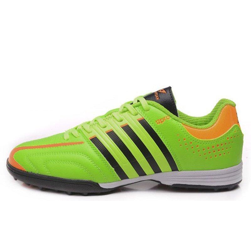 户外运动球鞋 碎钉足球鞋 透明草地足球鞋 男女儿童球鞋 蓝色 37