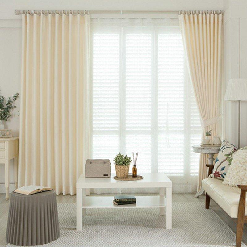 理想家 韩国进口现代简约风格客厅卧室窗帘 qf1282 挂钩式宽3.5*高2.