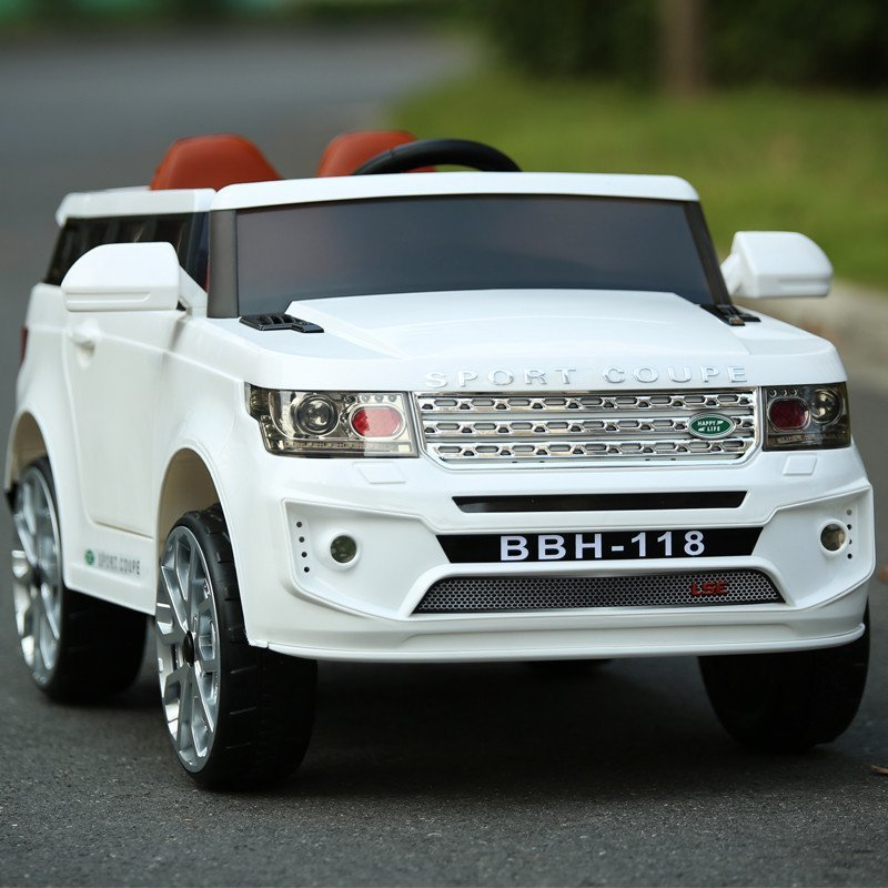 路虎 儿童电动车 四轮双驱越野车 遥控汽车 可坐宝宝电瓶童车 ◆白色