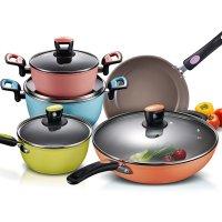 爱仕达套装锅ASD韩式陶瓷不沾五件套组合 电磁炉通用烹饪锅具PL05B2Q
