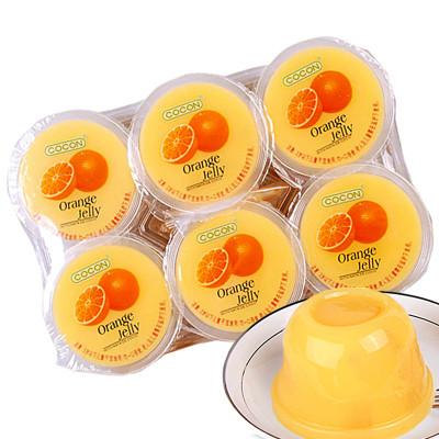 可康牌甜橙味果冻(含椰纤果)(6杯装)480g