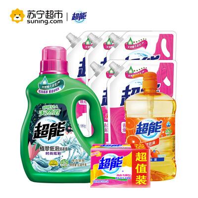 超能家庭超值装(16.76斤超能洗衣液送3斤洗洁精和404克内衣皂)