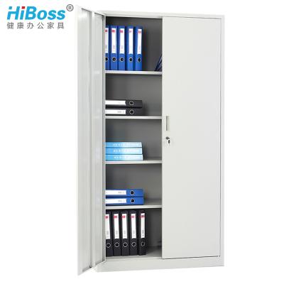 HiBoss 兩門文件柜鐵皮柜2門辦公柜帶鎖財務會計憑證柜檔案柜