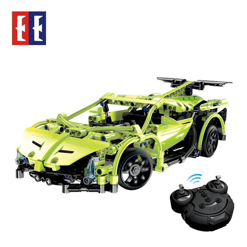 双鹰咔搭积木遥控车 乐高积木拼装电动玩具车汽车