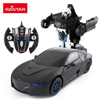 星辉车模RS战警一键遥控变形汽车机器人变形遥控车男孩儿童玩具