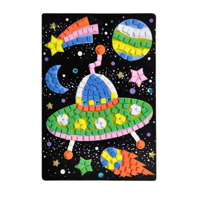 立体粘贴画儿童手工diy手工制作亮片ab款 水钻马赛克贴纸 hn0005a松鼠