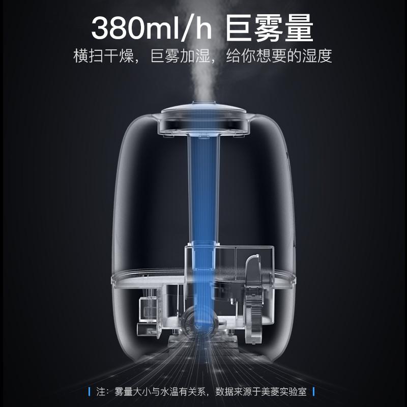 美菱(MeiLing)MH-600加湿器家用静音迷你创意香薰办公卧室大容量增湿器