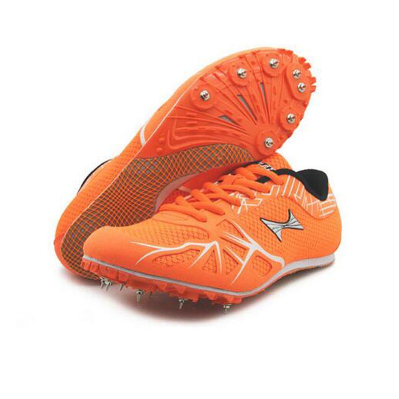 钉鞋囹�a_欧伦萨 钉鞋男女短中跑田径运动鞋学生中考比赛钉鞋 橘色 38