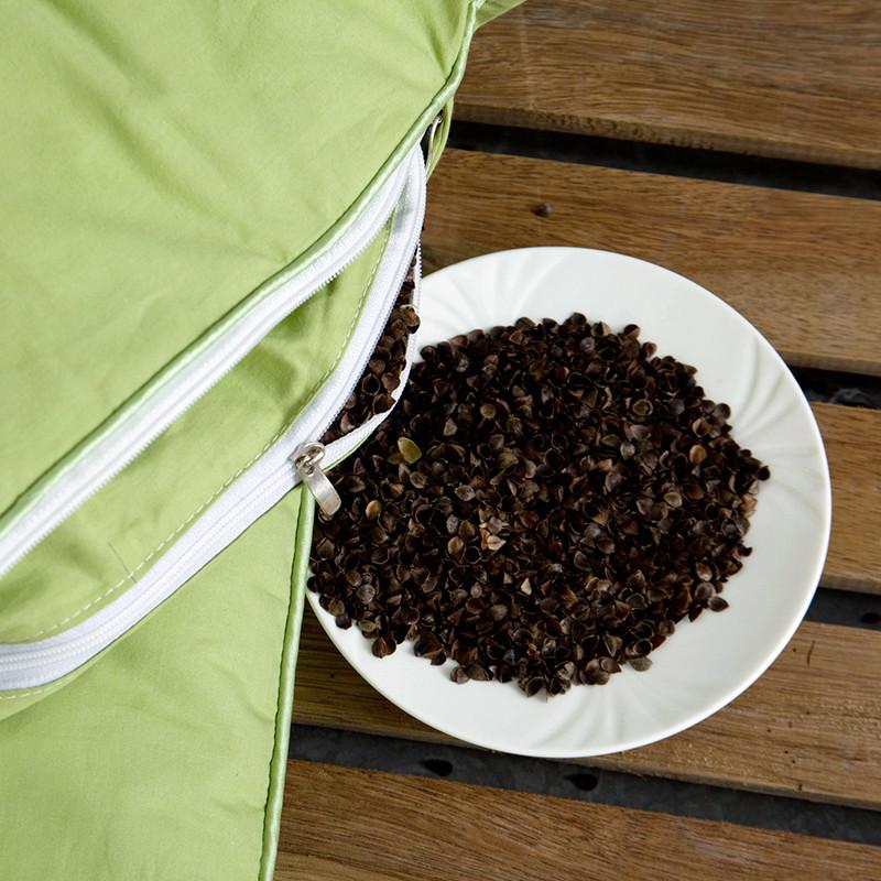 迎馨 床品家纺 全棉纯荞麦枕芯 甜荞麦6斤-送枕套 46*72cm 绿色