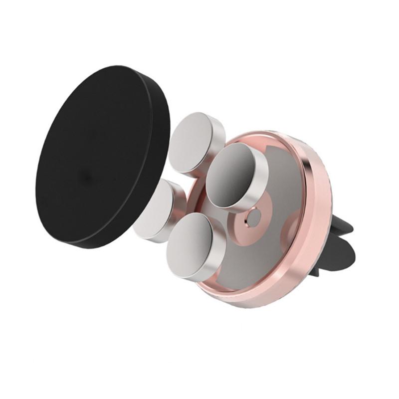 千钰 圆形车载手机支架 出风口磁性支架 汽车风口磁铁手机架