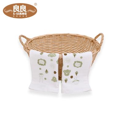 良良(liangliang)吸水透气柔软宝宝口水巾竹纤维婴儿毛巾